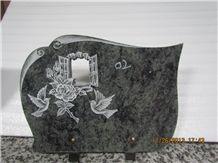 Popular Granite Memorials Plaques(Owned Factory), Imported Green Granite Memorials