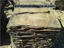 Fossil Stone, Brown Quartzite Flagstone
