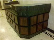 Empress Green Mable Reception Desk Top