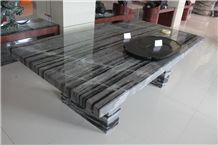 Marble Interior Table and Bench