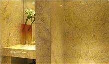 Amarelo Valverde Limestone Hotel Bathroom Design