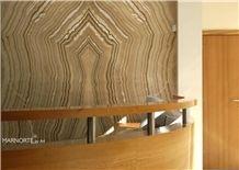Honey Tiger Onyx Backlight Wall Panel