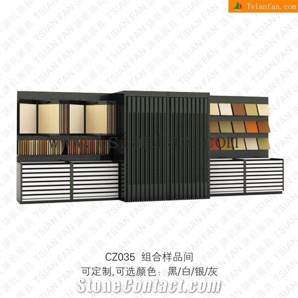 Cz035 Ceramic Tiles Rack Stand Tile Display Showroom Stands