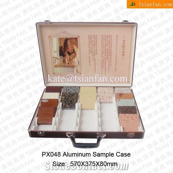 Portable Exhibition Cabinet : Px portable aluminium alloy cabinet for stone exhibition fair