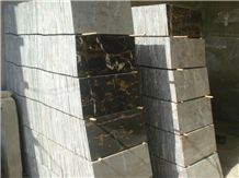 Black & Gold Marble Tiles, Pakistan Black Marble