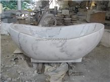 China Moon White Marble Bathtub,China Carrara White Marble,China Guangxi White Marble Bath Tub