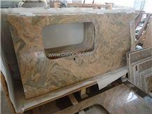 Golden Yellow Granite Kitchen Countertop