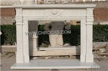 Hunan White Marble Fireplaces