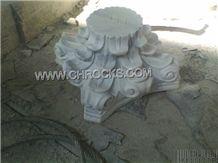 White Marble Column Base