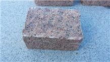 Rojo Argallon Granite Cobble Stone, Rojo Argallon Granite Two Faces Rustic