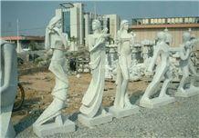 Stone Figure Carving Human Sculptures