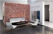 Rosado Concetto Rose-Quartz Backlight Semiprecious Stone Wall Panel