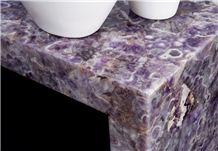 Viola Amethyst Semiprecious Stone Countertops