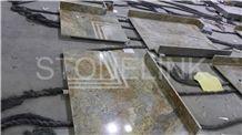 Imperial Gold Bath Top, Golden Granite Vanity Top, Imperial Gold Granite Bath Tops