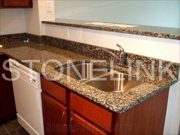 Leopard Skin Granite Kitchen Top Countertop Brown