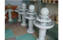 G603 Grey Granite Carved Rolling Sphere Balls Fountain Fortune Ball Fountains Garden Fountains