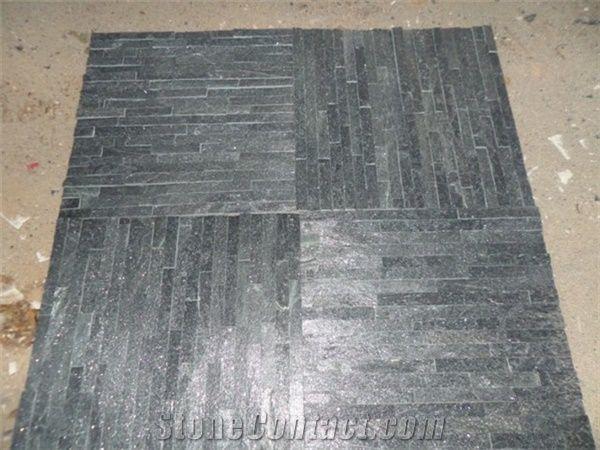 Delicieux Natural Black Quartzite Ledge Stone Veneers / Interior Wall Cladding /  Cultured Stone