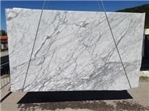 White Carrara Marble Slabs & Tiles, Statuarietto White Marble Slabs & Tiles