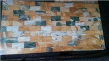 Peacock Jade Golden Marble Mosaic Tiles 30x60cm