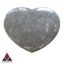 China Viscont White Granite Heart Tombstones