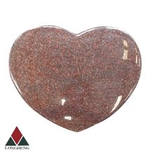 Indian Red Granite Heart Tombstone