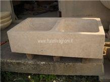 Travertino Romano Classico Solid Farm Sink 90cm