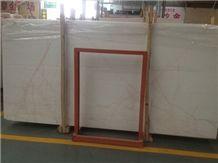 Red Line White Jade Slabs & Tiles, Red Line White Marble Slabs & Tiles