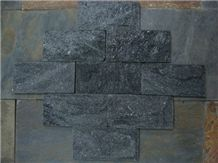 Natural Black Quartzite Mushroom Stone for Wall Cladding
