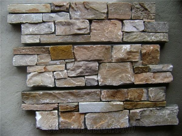 Cultural Stone Wall Tile Slate Cement Cultured Cladding Stacked Veneer