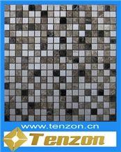 2014 Fashion Marble Stone Mosaic Tile, Kavala Grey Marble Mosaic