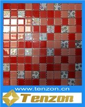 Best Sell Glass Mosaic Tiles, Golden Cobra Marble Glass Mosaic