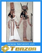 Egyptian Mural Marble Mosaic Art,Ariston White Marble Art Works