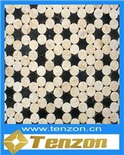 New Product Decorative Walls Stone Mosaic Tile, Absolute Beige Marble Mosaic