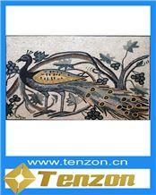 Professional Art Design Marble Art, Veria Naoussa Green Marble Mosaic