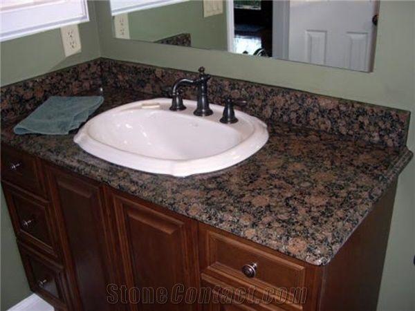 Baltic Brown Bathroom Countertop Finland Brown Granite