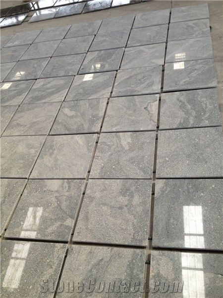 Home Granite Tiles Slabs Beautiful Polished Fantasy Grey Cut To Size Tile Supply Chinese