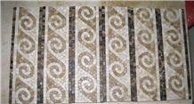 Mixed Marble Mosaic Border tile