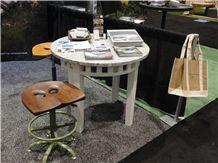 Freshwater Pearl Granite Round Tabletop