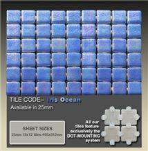 Ezarri Iris Ocean Glass Mosaic