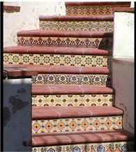 Hand-Painted Decorative Ceramic Stair Risers