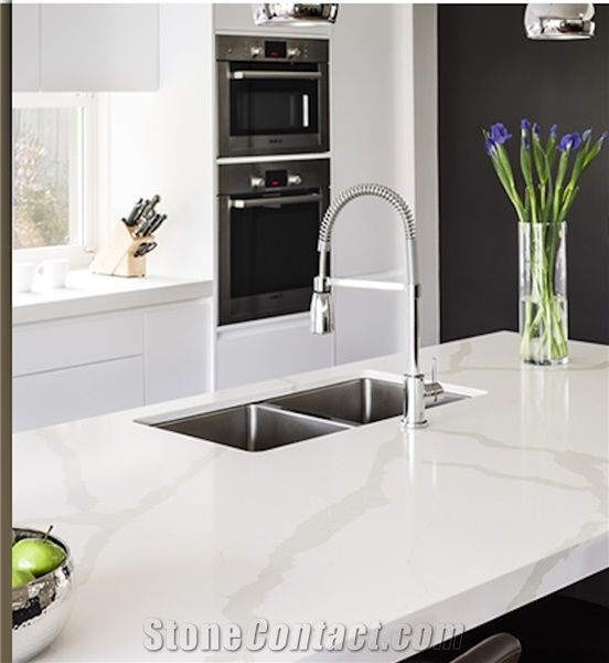 Quantum Quartz Calacatta Kitchen Countertop From Australia