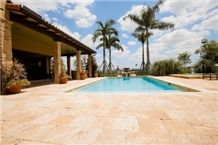 Coralina Gold Coral Stone Pool Deck Pavements