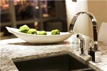 Exotic Granite Kitchen Countertops, Alpine Star White Granite Kitchen Countertops