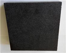 New Shanxi Black Granite Honed Tiles for Flooring