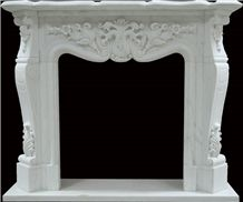 White Marble Fireplace, Hunan White Marble