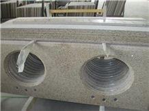 G682 Granite Bathroom Tops, China Yellow Granite Vanity Tops