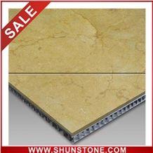 antique gold aluminium honey comb compound panel&marble composite tile