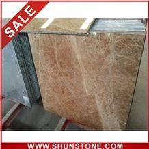 emperador light aluminium honey comb compound panel&marble composite tile