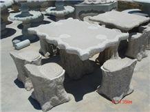 China Granite Grey Stone Outdoor Bench