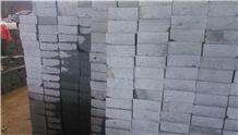 Chinese Zhangpu Black Basalt Sawn Cut Paving Stone